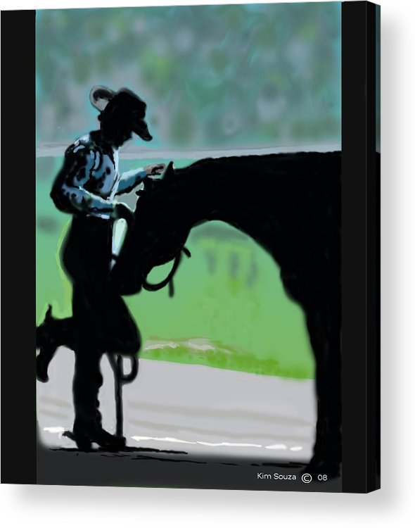 Horsemen Acrylic Print featuring the painting Barn Time by Kim Souza