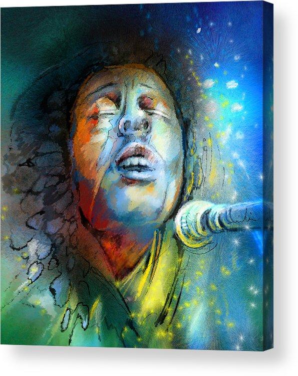 Bob Marley Acrylic Print featuring the painting Bob Marley 10 by Miki De Goodaboom
