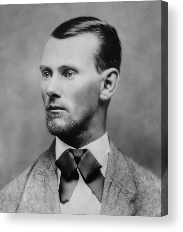 jesse James Acrylic Print featuring the photograph Jesse James -- American Outlaw by Daniel Hagerman