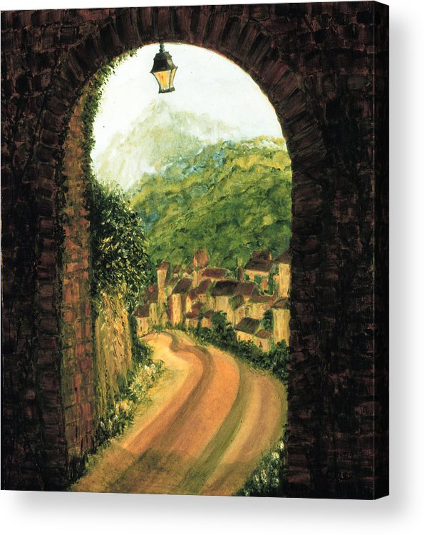 Long Road Home  Acrylic Print featuring the painting Long Road Home by Ione Citrin