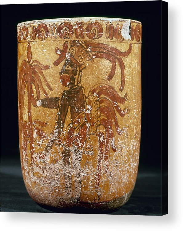 10th Century Acrylic Print featuring the photograph Mayan Priest 700-900 Ad by Granger