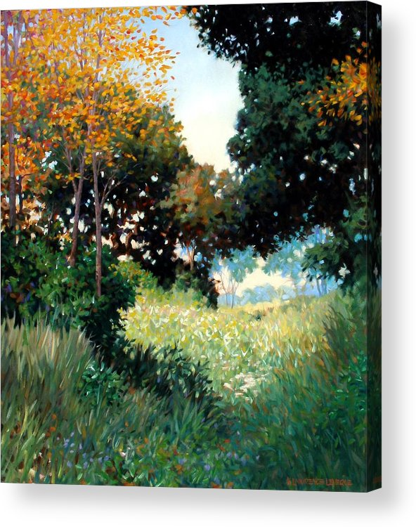 Landscape Acrylic Print featuring the painting Meadow by Kevin Lawrence Leveque