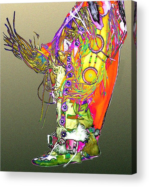 Moccasin Acrylic Print featuring the digital art Moccasin 2 by Kae Cheatham