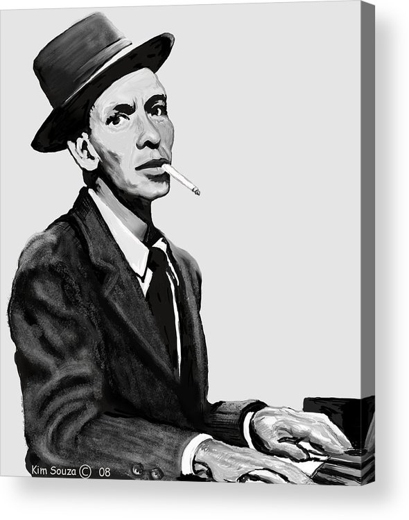 Frank Sinatra Acrylic Print featuring the digital art Ol Blue Eyes by Kim Souza