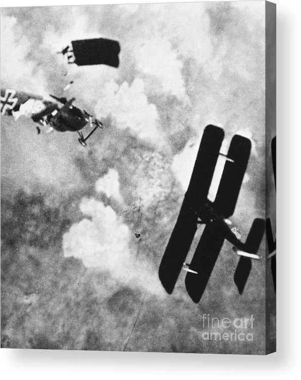 1914 Acrylic Print featuring the photograph World War I: Aerial Combat by Granger