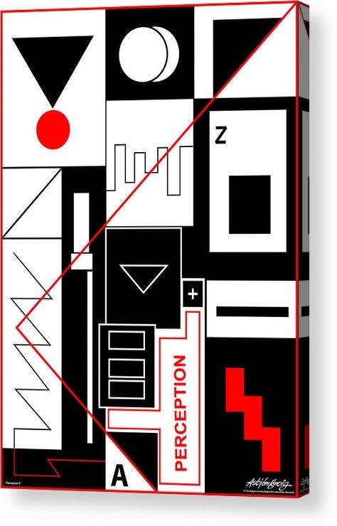 Perception Acrylic Print featuring the digital art Perception II - Text by Asbjorn Lonvig
