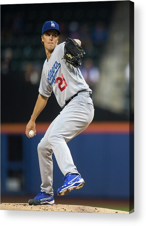 American League Baseball Acrylic Print featuring the photograph Los Angeles Dodgers V New York Mets 1 by Ron Antonelli