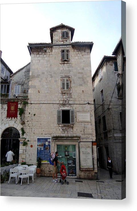 Mediterranean Acrylic Print featuring the photograph Views Of Split Croatia by Richard Rosenshein