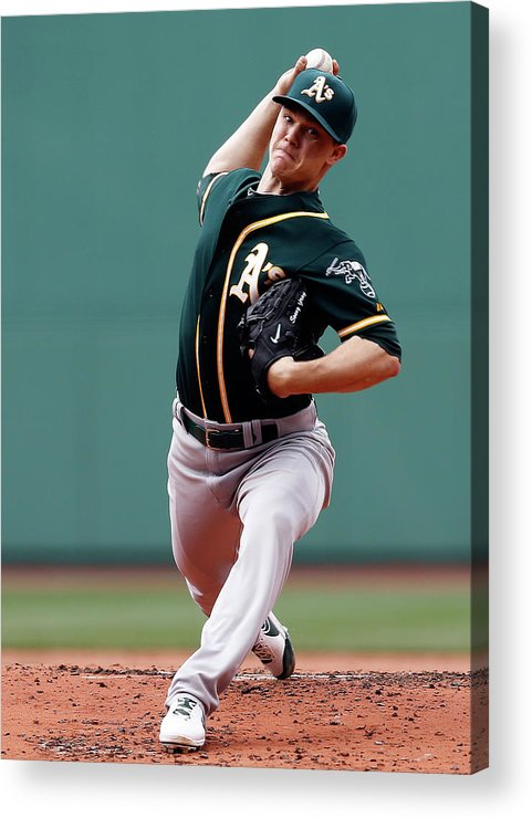 American League Baseball Acrylic Print featuring the photograph Oakland Athletics V Boston Red Sox 3 by Jim Rogash