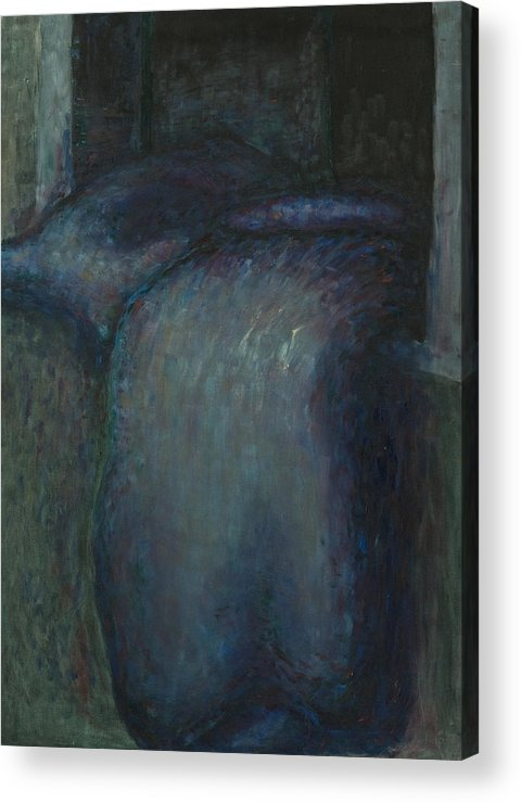 Bed Acrylic Print featuring the painting Airing by Oni Kerrtu