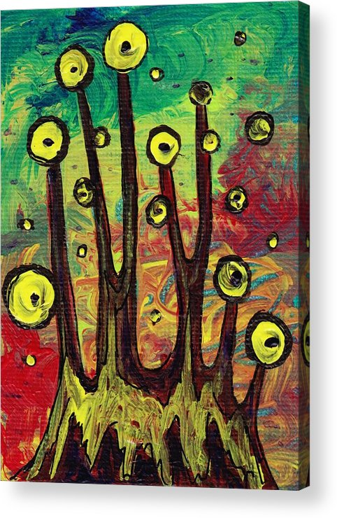 Abstract Acrylic Print featuring the painting All Eyes On You by Anastasiya Malakhova