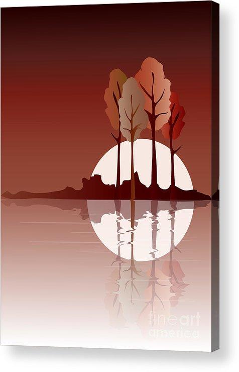 Art Acrylic Print featuring the digital art Autumn Reflected by Jane Rix