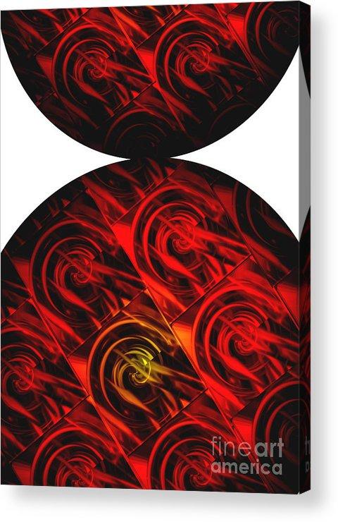 Abstract Acrylic Print featuring the digital art Balance by Ann Powell