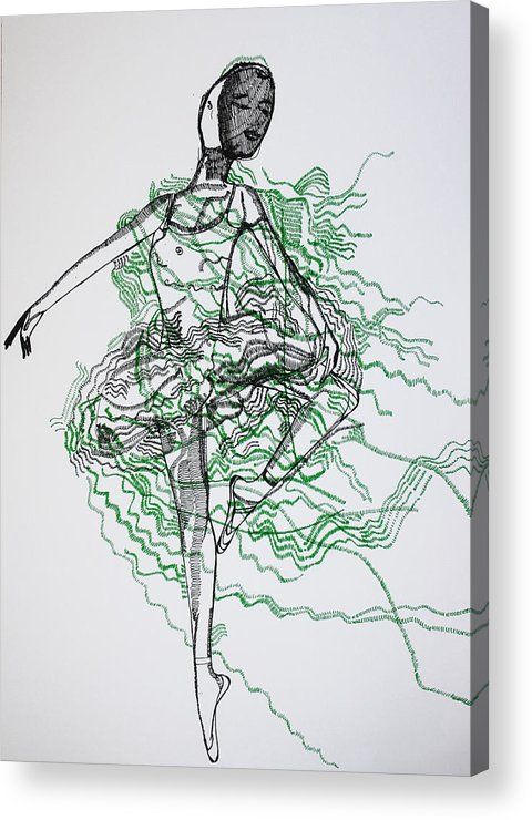 Jesus Acrylic Print featuring the drawing Ballet by Gloria Ssali