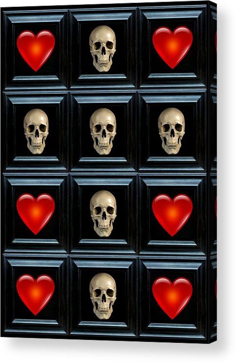 Heart Acrylic Print featuring the digital art Belief I by Lee Kendall