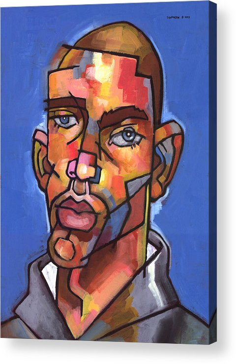 Portrait Acrylic Print featuring the painting Channing by Douglas Simonson