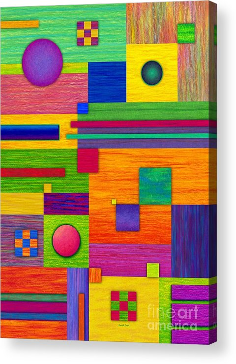 Colored Pencil Acrylic Print featuring the painting Combination 2 by David K Small