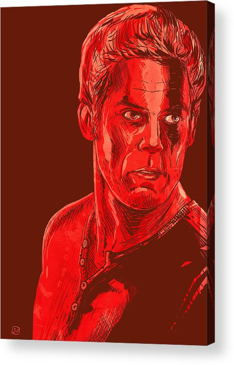 Dexter Acrylic Print featuring the drawing Dexter by Giuseppe Cristiano