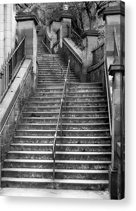 News Steps Acrylic Print featuring the photograph Edinburgh Steps by Liz Leyden