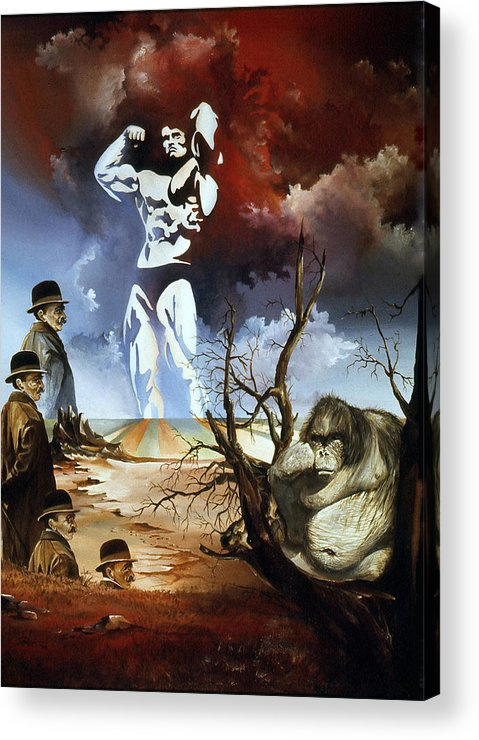 Surrealism Acrylic Print featuring the painting Evolution by Otto Rapp
