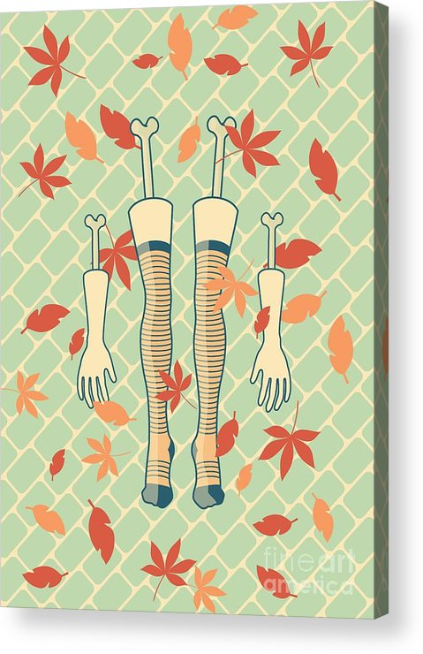 Legs Acrylic Print featuring the drawing Fall In Love by Freshinkstain
