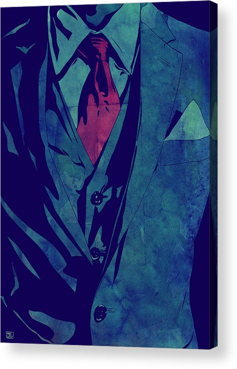 Giuseppe Cristiano Acrylic Print featuring the drawing Gentleman by Giuseppe Cristiano