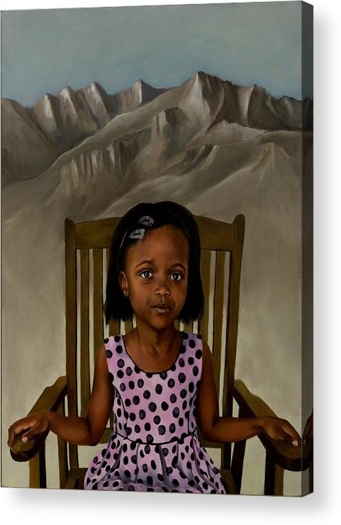 Girl Acrylic Print featuring the painting Girl From The Mountain Kingdom by Jolante Hesse