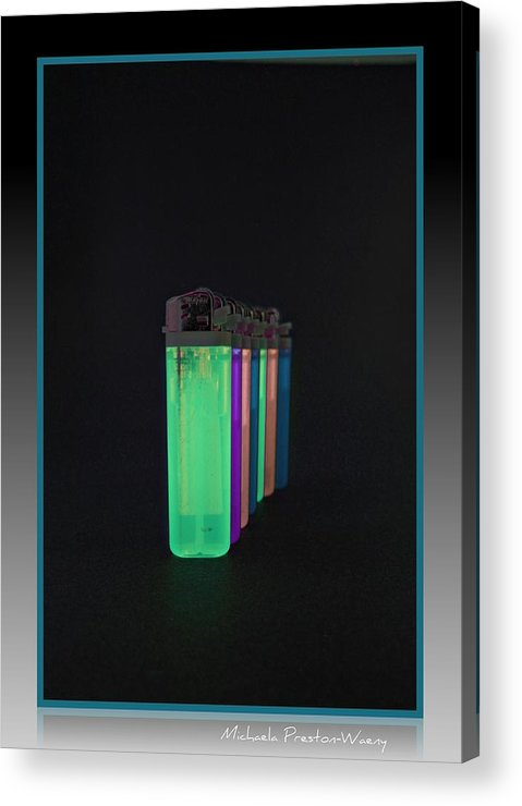 Art Acrylic Print featuring the photograph Glowing Lighters by Michaela Preston