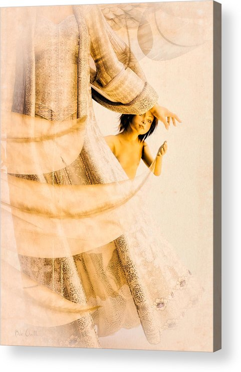 Angel Acrylic Print featuring the digital art God Bless This Child by Bob Orsillo