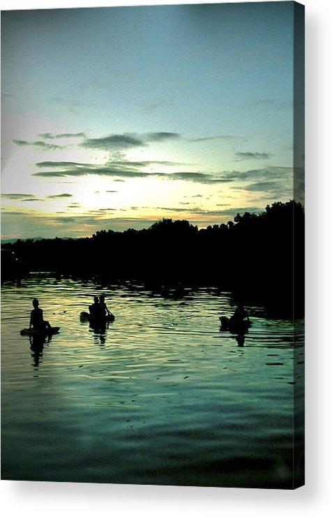 Mactan Acrylic Print featuring the photograph Into The Dark by Ferli DCruz