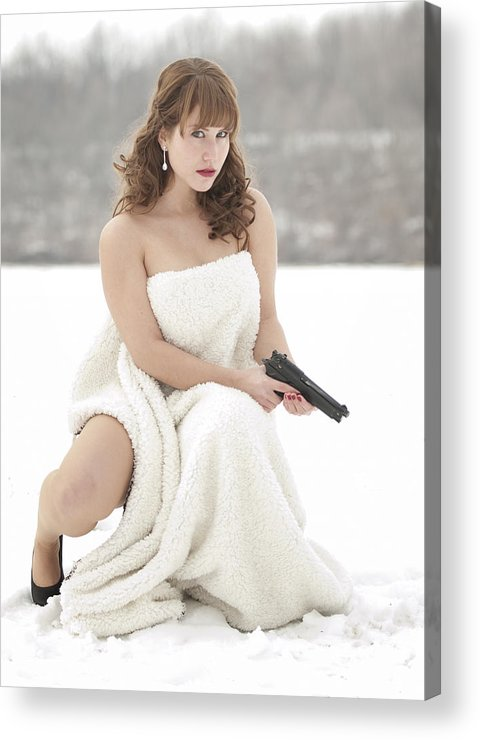 Snowy Acrylic Print featuring the photograph La Femme by Brian Mollenkopf