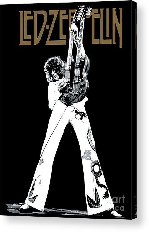 Led Zeppelin Acrylic Print featuring the digital art Led Zeppelin No.06 by Caio Caldas