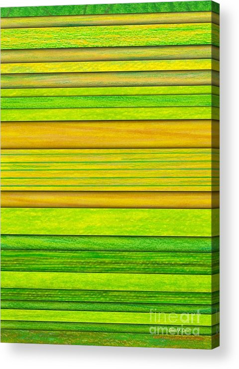 Colored Pencil Acrylic Print featuring the painting Lemon Limeade by David K Small