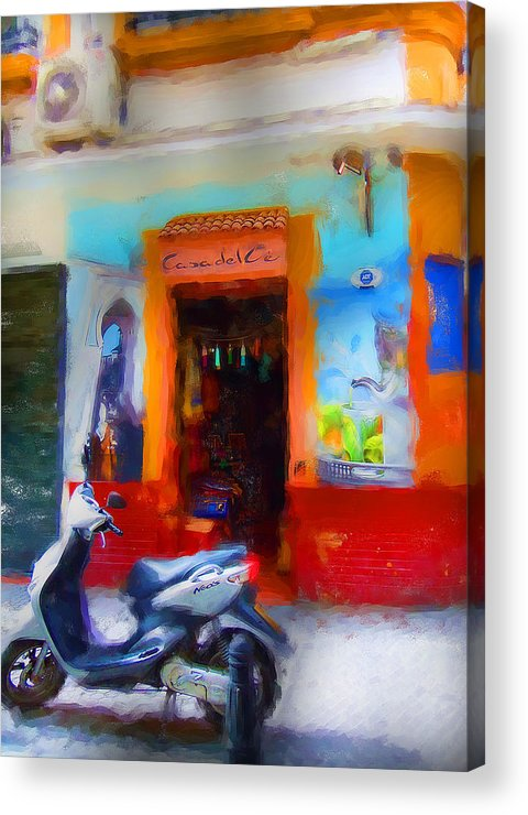 Madrid Acrylic Print featuring the digital art Madrid Color by Cary Shapiro