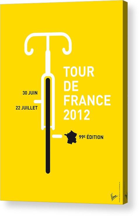 2012 Acrylic Print featuring the digital art My Tour De France 2012 Minimal Poster by Chungkong Art