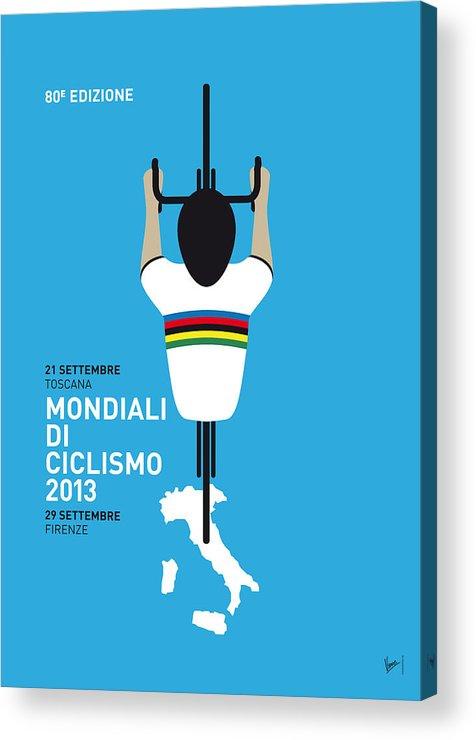 2013 Acrylic Print featuring the digital art My World Championships Minimal Poster by Chungkong Art