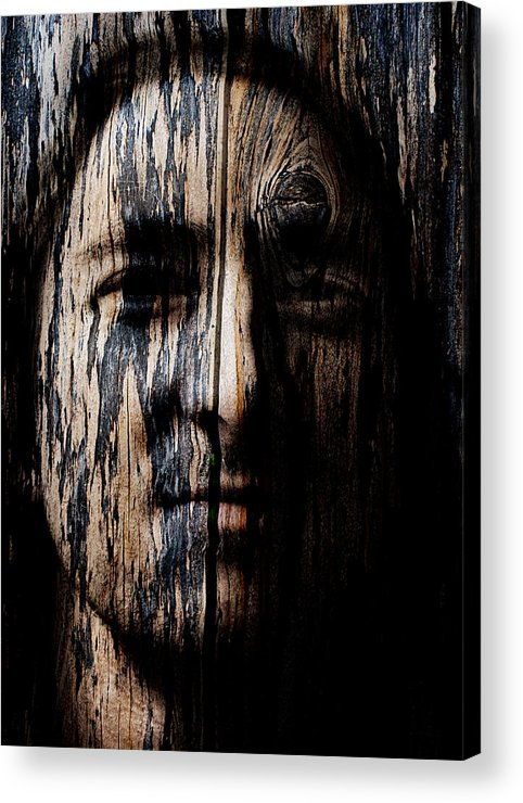 Native Acrylic Print featuring the painting Native Heritage by Christopher Gaston