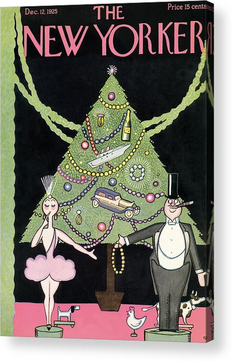Christmas Acrylic Print featuring the painting New Yorker December 12th, 1925 by Rea Irvin