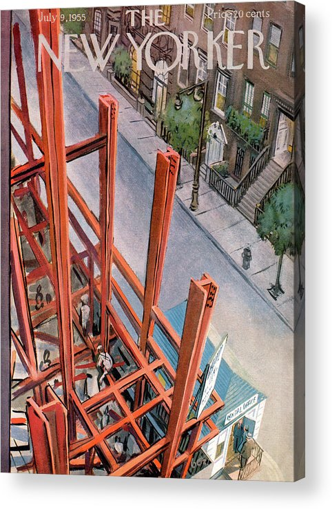 Urban Acrylic Print featuring the painting New Yorker July 9th, 1955 by Arthur Getz