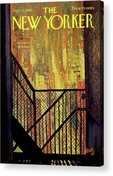 Arthur Getz Agt Acrylic Print featuring the painting New Yorker September 21st, 1968 by Arthur Getz