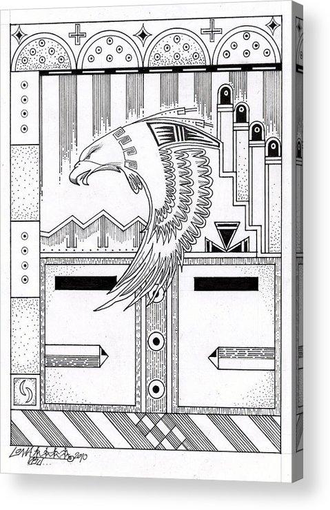 Hopi Acrylic Print featuring the drawing Niman 2 by Dalton James