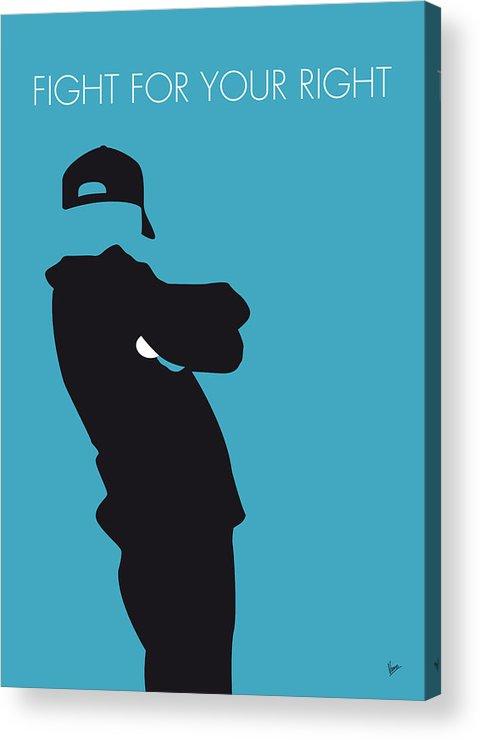 Beastie Acrylic Print featuring the digital art No025 My Beastie Boys Minimal Music Poster by Chungkong Art