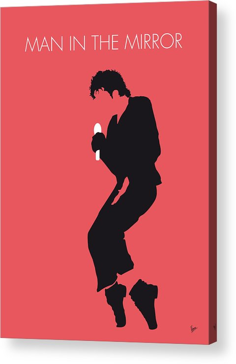 Michael Acrylic Print featuring the digital art No032 My Michael Jackson Minimal Music Poster by Chungkong Art