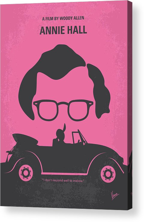 Annie Acrylic Print featuring the digital art No147 My Annie Hall Minimal Movie Poster by Chungkong Art