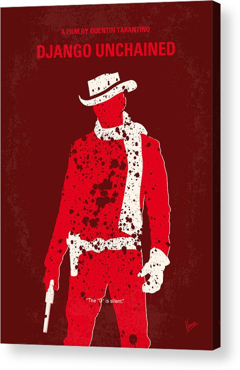 Django Acrylic Print featuring the digital art No184 My Django Unchained Minimal Movie Poster by Chungkong Art