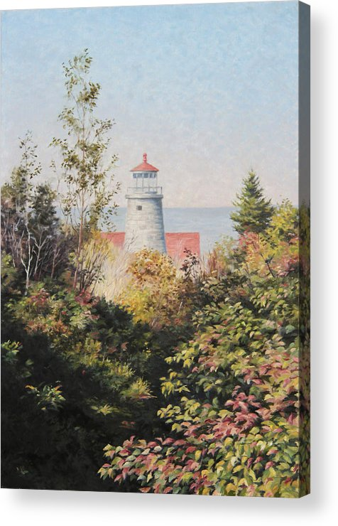 Landscape Acrylic Print featuring the painting Path To The Light by Will Kefauver