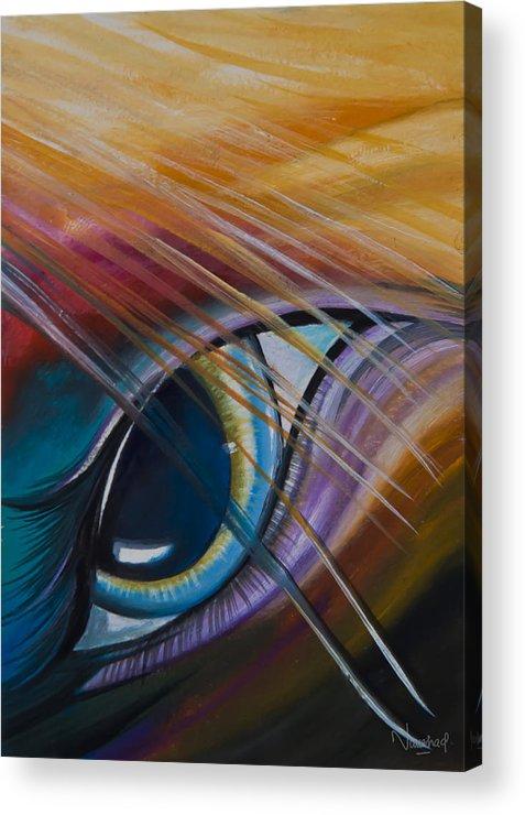 Naushad Waheed Acrylic Print featuring the painting Peeping Eye by Naushad Waheed