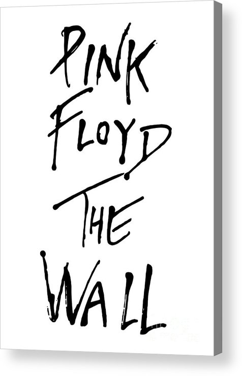 Pink Floyd Acrylic Print featuring the digital art Pink Floyd No.01 by Caio Caldas
