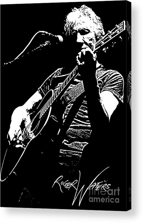 Roger Waters Acrylic Print featuring the digital art Roger Waters No.01 by Caio Caldas