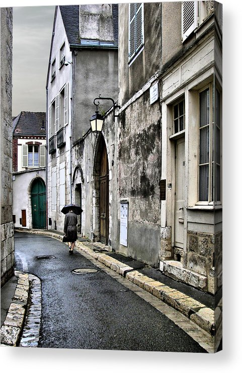 Chartres Acrylic Print featuring the photograph Rue A Chartres by Nikolyn McDonald